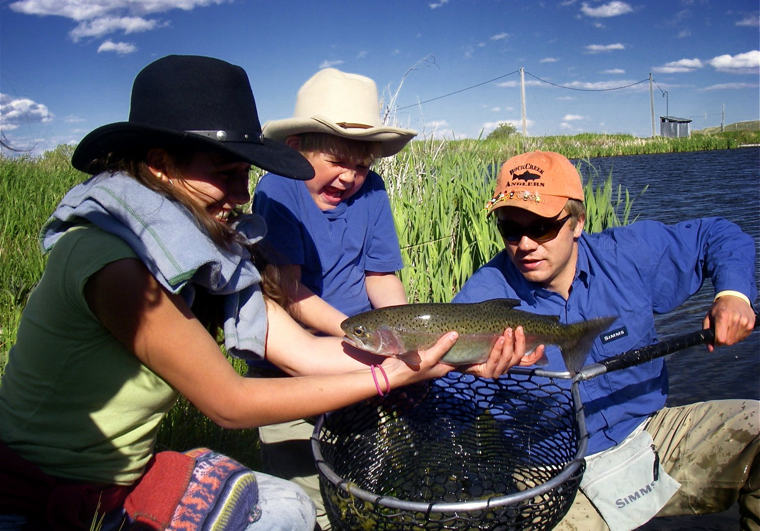Kids Fly Fishing Lesson Big Trout Wyoming Dry Fly